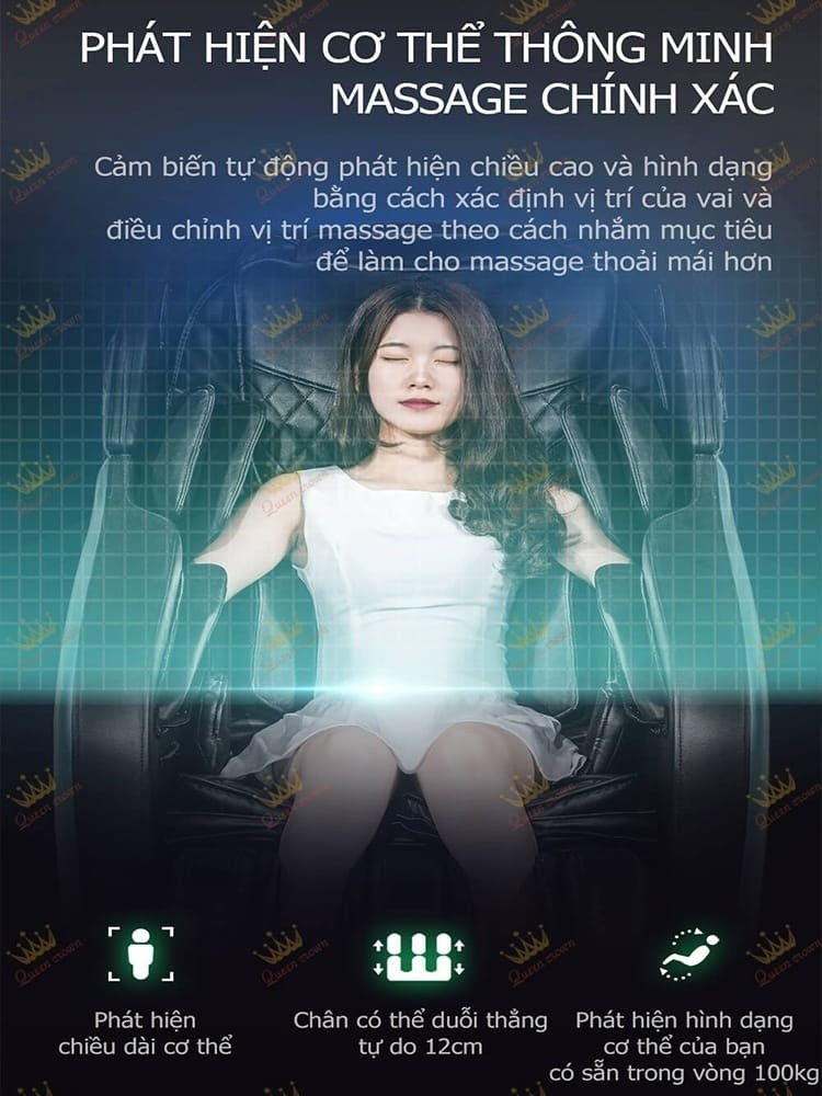 Ghe Massage Queen Crown Qc Cx8 Tu Dong Do Tim Huyet Dao