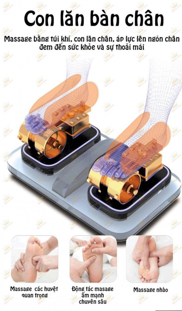 Ghe Massage Queen Crown Qc Lx888 Cai Tien Cum Massage Chan Moi