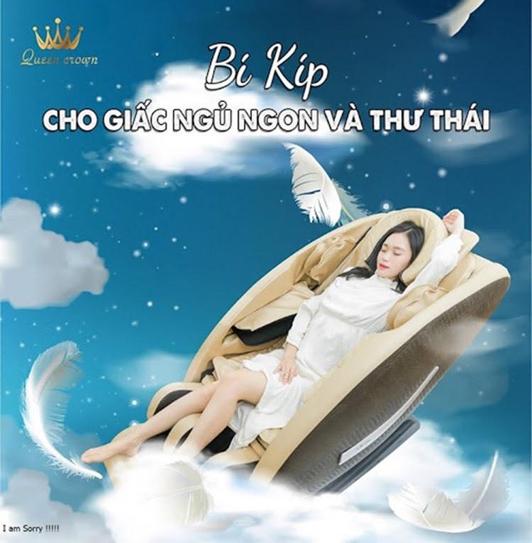 Ghe Massage Queen Crown Qc Lx888 Giup Ban Trai Nghiem Giac Ngu Hoan Hao