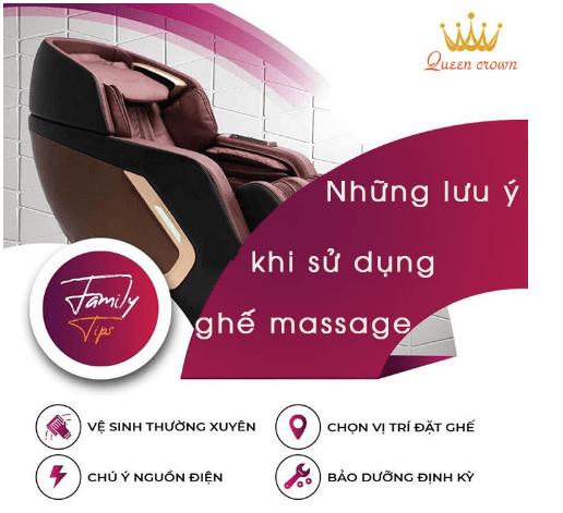 Những lưu ý khi sử dụng máy massage toàn thân