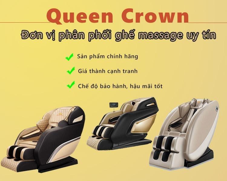 Kinh nghiệm mua ghế massage nên mua tại đơn vị uy tín như Queen Crown