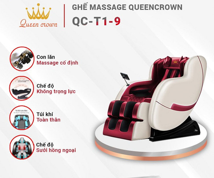 Ghế massage 3d queen crown qc t19