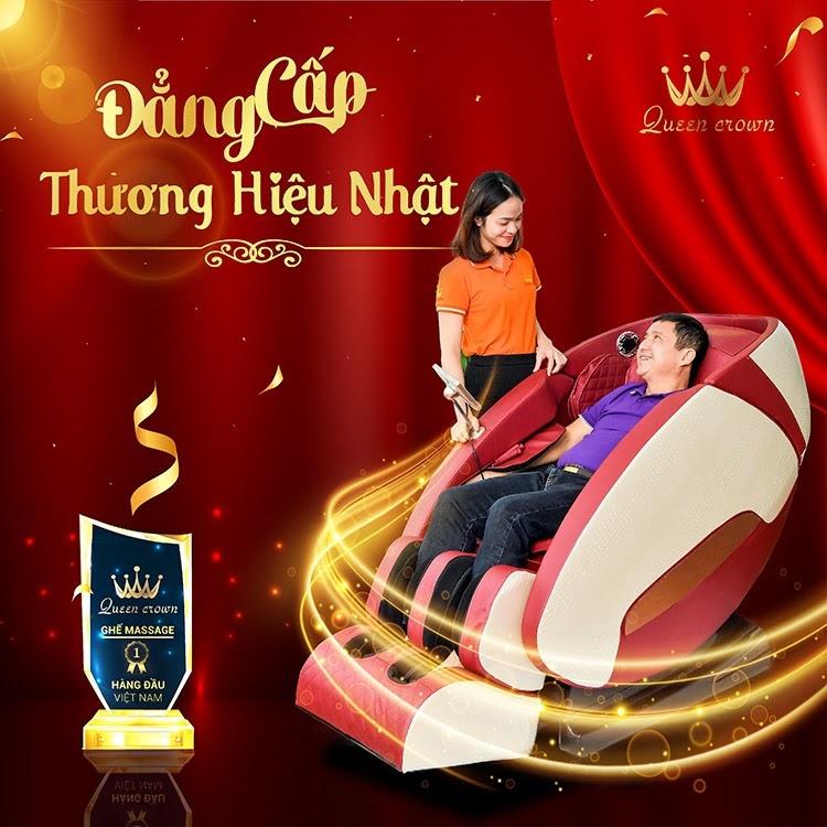 Queen Crown là thương hiệu ghế massage gia đình uy tín