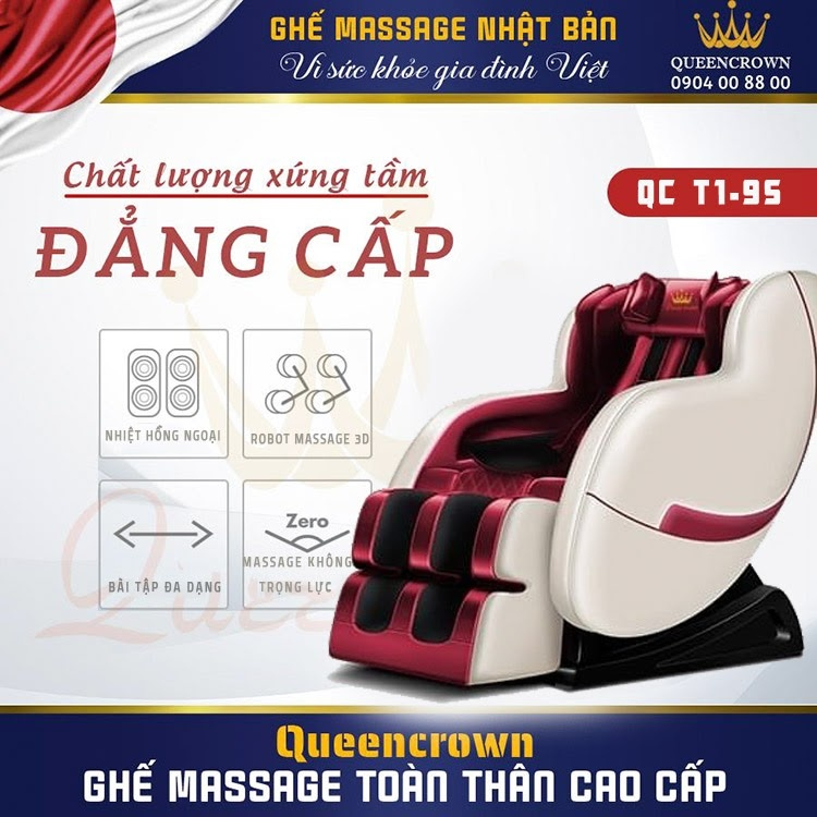 Ghe Massage 3d Queen Crown Qc T1 9s