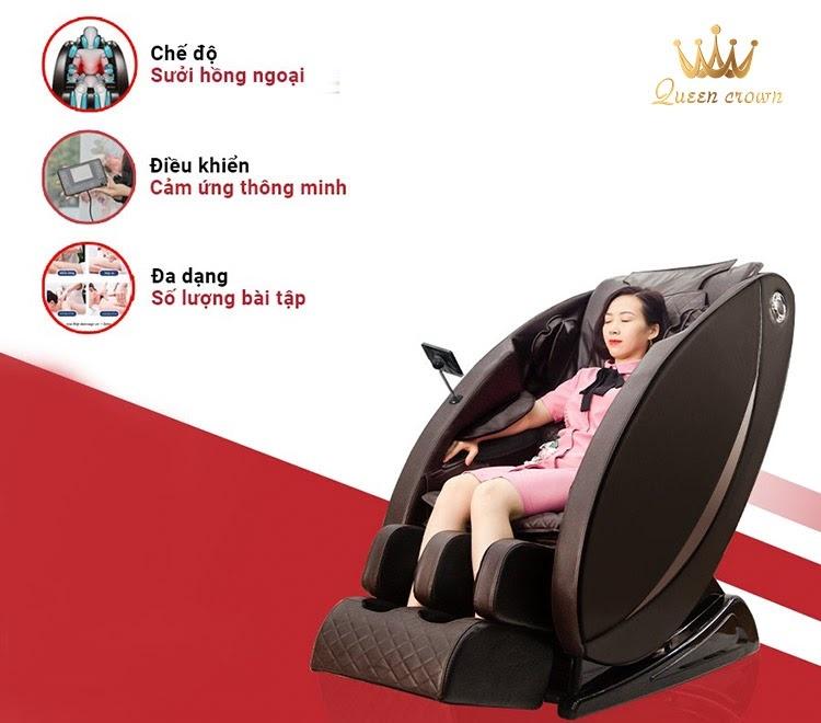 Ghế massage cho người cao tuổi Queen Crown Qc Sl7 Plus