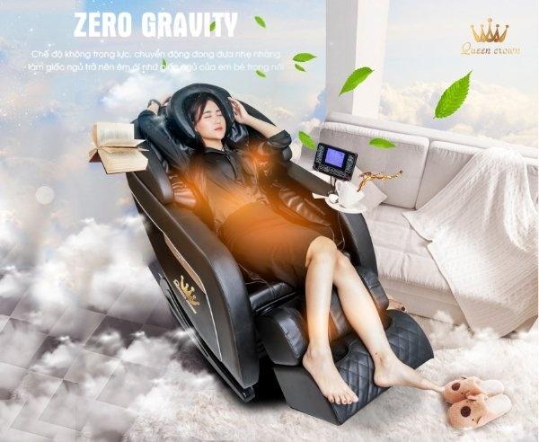 Tính năng massage không trọng Zero Gravity Ghế massage Queen Crown Dr. Tokyo 8