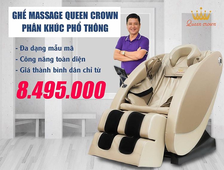 Ghế massage phân khúc phổ thông có thể đáp ứng nhu cầu đa dạng khách hàng
