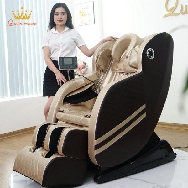 Ghe Massage Queen Crown Qc V9 Duoc Lam Tu Chat Lieu Cao Cap