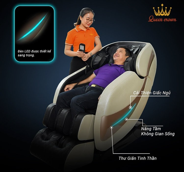 Ghế massage toàn thân tại Đà Nẵng giúp chăm sóc sức khỏe toàn diện