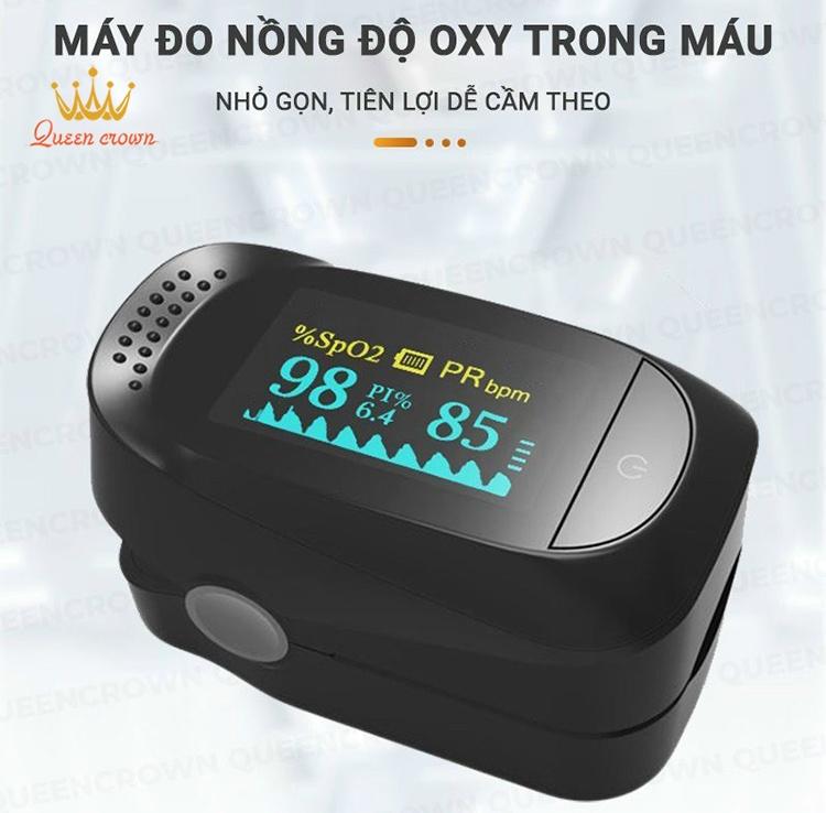 May Do Nong Do Oxy Trong Mau Pulse Oximeter A2 Thiet Ke Nho Gon